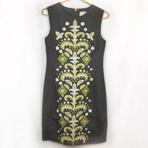 Anthropologie Tabitha Embroidered Pencil Dress